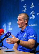 16 December 2019; Senior coach Stuart Lancaster during a Leinster Rugby press conference at Leinster Rugby Headquarters in UCD, Dublin. Photo by Ramsey Cardy/Sportsfile