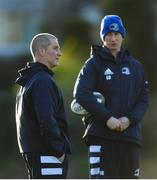 16 December 2019; Senior coach Stuart Lancaster, left, and Head coach Leo Cullen during Leinster Rugby squad training at UCD, Dublin. Photo by Ramsey Cardy/Sportsfile