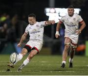 13 December 2019; John Cooney of Ulster converts the game winning penalty during the Heineken Champions Cup Pool 3 Round 4 match between Harlequins and Ulster at Twickenham Stoop in London, England. Photo by John Dickson/Sportsfile