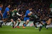 14 December 2019; Caelan Doris of Leinster is tackled by Ahsee Tuala of Northampton Saints during the Heineken Champions Cup Pool 1 Round 4 match between Leinster and Northampton Saints at the Aviva Stadium in Dublin. Photo by Sam Barnes/Sportsfile
