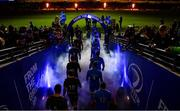 14 December 2019; Players from both sides lead make their way on to the pitch ahead of the Heineken Champions Cup Pool 1 Round 4 match between Leinster and Northampton Saints at the Aviva Stadium in Dublin. Photo by Sam Barnes/Sportsfile