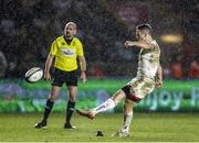13 December 2019; John Cooney of Ulster converts a try during the Heineken Champions Cup Pool 3 Round 4 match between Harlequins and Ulster at Twickenham Stoop in London, England. Photo by John Dickson/Sportsfile