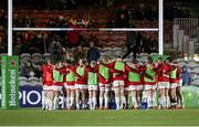13 December 2019; Ulster players in a huddle before the Heineken Champions Cup Pool 3 Round 4 match between Harlequins and Ulster at Twickenham Stoop in London, England. Photo by John Dickson/Sportsfile