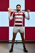 19 December 2019; Slaughtneil Hurler Chrissy McKaigue stands for a portrait ahead of the AIB GAA All-Ireland Senior Hurling Club Championship Semi-Final where they face Ballyhale Shamrocks of Kilkenny on Sunday January 5th at Páirc Esler, Newry. AIB is in its 29th year sponsoring the GAA Club Championship and is delighted to continue to support the Junior, Intermediate and Senior Championships across football, hurling and camogie. For exclusive content and behind the scenes action throughout the AIB GAA & Camogie Club Championships follow AIB GAA on Facebook, Twitter, Instagram and Snapchat. Photo by Sam Barnes/Sportsfile