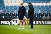 19 December 2019; Tommy O'Brien and Backs coach Felipe Contepomi during a Leinster Rugby Captains Run at the RDS Arena in Dublin. Photo by Harry Murphy/Sportsfile