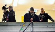 20 December 2019; Commentators Anthony Daly, left, and Colm O'Connor during an Irish Examiner broadcast at the Co-op Superstores Munster Hurling League 2020 Group A match between Limerick and Tipperary at LIT Gaelic Grounds in Limerick. Photo by Piaras Ó Mídheach/Sportsfile