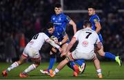 20 December 2019; Robbie Henshaw of Leinster is tackled by Bill Johnston of Ulster during the Guinness PRO14 Round 8 match between Leinster and Ulster at the RDS Arena in Dublin. Photo by Ramsey Cardy/Sportsfile