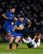20 December 2019; Robbie Henshaw of Leinster is tackled by Bill Johnston of Ulster during the Guinness PRO14 Round 8 match between Leinster and Ulster at the RDS Arena in Dublin. Photo by Harry Murphy/Sportsfile