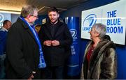20 December 2019; Leinster player Ross Byrne with supporters in the Blue Room prior to the Guinness PRO14 Round 8 match between Leinster and Ulster at the RDS Arena in Dublin. Photo by Brendan Moran/Sportsfile