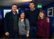20 December 2019; Leinster players Rory O'Loughlin and Ross Molony with supporters in the Blue Room prior to the Guinness PRO14 Round 8 match between Leinster and Ulster at the RDS Arena in Dublin. Photo by Brendan Moran/Sportsfile
