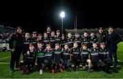 20 December 2019; The De La Salle Palmerstown team with Leinster players Dave Kearney, Joe Tomane and Rowan Osborne at the Guinness PRO14 Round 8 match between Leinster and Ulster at the RDS Arena in Dublin. Photo by Ramsey Cardy/Sportsfile