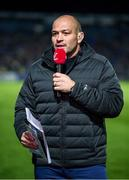 20 December 2019; Former Ulster player Rory Best speaks on eir sport prior to the Guinness PRO14 Round 8 match between Leinster and Ulster at the RDS Arena in Dublin. Photo by Harry Murphy/Sportsfile