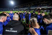 20 December 2019; The Leinster team huddle following the Guinness PRO14 Round 8 match between Leinster and Ulster at the RDS Arena in Dublin. Photo by Ramsey Cardy/Sportsfile