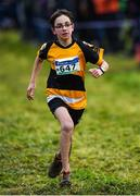 15 December 2019; Artem Kelly of Ashford A.C., Co. Wicklow, competing in the U13 Boy's 3500m during the Irish Life Health Novice & Juvenile Uneven XC at Cow Park in Dunboyne, Co. Meath. Photo by Harry Murphy/Sportsfile