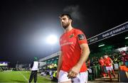 21 December 2019; Jean Kleyn of Munster walks out prior to the Guinness PRO14 Round 8 match between Connacht and Munster at The Sportsground in Galway. Photo by Brendan Moran/Sportsfile