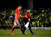 21 December 2019; Gavin Coombes of Munster leaves the field with Head of Medical Dr Jamie Kearns following an injury during the Guinness PRO14 Round 8 match between Connacht and Munster at The Sportsground in Galway. Photo by Seb Daly/Sportsfile