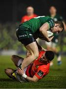 21 December 2019; Stephen Fitzgerald of Connacht is tackled by Calvin Nash of Munster during the Guinness PRO14 Round 8 match between Connacht and Munster at The Sportsground in Galway. Photo by Seb Daly/Sportsfile