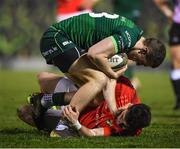 21 December 2019; Stephen Fitzgerald of Connacht and Calvin Nash of Munster during the Guinness PRO14 Round 8 match between Connacht and Munster at The Sportsground in Galway. Photo by Seb Daly/Sportsfile