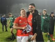 21 December 2019; Keynan Knox, left, and Jean Kleyn of Munster following their side's victory during the Guinness PRO14 Round 8 match between Connacht and Munster at The Sportsground in Galway. Photo by Seb Daly/Sportsfile