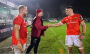 21 December 2019; Munster forwards coach Graham Rowntree celebrates with Jack O'Donoghue, right and Jeremy Loughman after the Guinness PRO14 Round 8 match between Connacht and Munster at The Sportsground in Galway. Photo by Brendan Moran/Sportsfile