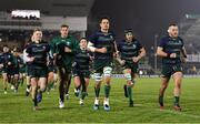 21 December 2019; Connacht players, from left, Conor Fitzgerald, Kyle Godwin, Denis Buckley, Quinn Roux, Ultan Dillane and Finlay Bealham prior to the Guinness PRO14 Round 8 match between Connacht and Munster at The Sportsground in Galway. Photo by Seb Daly/Sportsfile