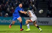 20 December 2019; Robbie Henshaw of Leinster in action against Angus Curtis of Ulster during the Guinness PRO14 Round 8 match between Leinster and Ulster at the RDS Arena in Dublin. Photo by Brendan Moran/Sportsfile