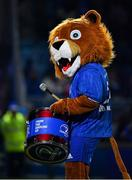20 December 2019; Leinster mascot Leo the Lion during the Guinness PRO14 Round 8 match between Leinster and Ulster at the RDS Arena in Dublin. Photo by Brendan Moran/Sportsfile