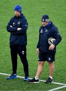 23 December 2019; Head coach Leo Cullen, left, with scrum coach Robin McBryde during Leinster Rugby squad training at Energia Park in Dublin. Photo by Piaras Ó Mídheach/Sportsfile