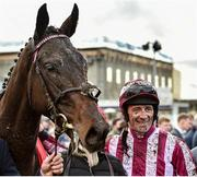 26 December 2019; Davy Russell with Cedarwood Road, after winning the Best With Tote Maiden Hurdle during Day One of the Leopardstown Christmas Festival 2019 at Leopardstown Racecourse in Dublin. Photo by Matt Browne/Sportsfile