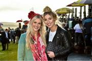26 December 2019; Racegoers, Lauren Tinkler, left, with Laura Quigley from Straffan, Kildare during Day One of the Leopardstown Christmas Festival 2019 at Leopardstown Racecourse in Dublin. Photo by Matt Browne/Sportsfile