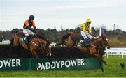 27 December 2019; Melon, with Paul Townend up, right, jump the last ahead of Gallant John Joe, with Barry Browne up, on their way to winning the Paddy Power Live Stream All Irish Racing On Our App beginners steeplechase during Day Two of the Leopardstown Christmas Festival 2019 at Leopardstown Racecourse in Dublin. Photo by David Fitzgerald/Sportsfile