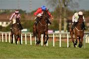 27 December 2019; A Plus Tard, centre, with Rachael Blackmore up, on their way to winning the The Paddy`s Rewards Club Loyalty`s Dead, Live For Rewards Steeplechase from eventual second place finisher Chacun Pour Soi, right, with Paul Townend up, and eventual third place finisher Ordinary Word, left, with Sean Flanagan up, during Day Two of the Leopardstown Christmas Festival 2019 at Leopardstown Racecourse in Dublin. Photo by Matt Browne/Sportsfile