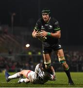 27 December 2019; Ultan Dillane of Connacht is tackled by Billy Burns of Ulster during the Guinness PRO14 Round 9 match between Ulster and Connacht at the Kingspan Stadium in Belfast. Photo by Ramsey Cardy/Sportsfile