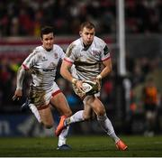 27 December 2019; Will Addison, right, and Billy Burns of Ulster during the Guinness PRO14 Round 9 match between Ulster and Connacht at the Kingspan Stadium in Belfast. Photo by Ramsey Cardy/Sportsfile