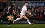 27 December 2019; John Cooney of Ulster in action against Eoin McKeon of Connacht during the Guinness PRO14 Round 9 match between Ulster and Connacht at the Kingspan Stadium in Belfast. Photo by Ramsey Cardy/Sportsfile