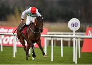 28 December 2019; The Bosses Oscar, with Davy Russell up, race clear to win theTote Supporting Leopardstown Maiden Hurdle during Day Three of the Leopardstown Christmas Festival 2019 at Leopardstown Racecourse in Dublin. Photo by David Fitzgerald/Sportsfile