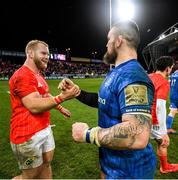 28 December 2019; Jeremy Loughman of Munster and Andrew Porter of Leinster following the Guinness PRO14 Round 9 match between Munster and Leinster at Thomond Park in Limerick. Photo by Ramsey Cardy/Sportsfile
