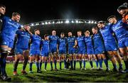 28 December 2019; Scott Fardy of Leinster speaks to his team-mates following the Guinness PRO14 Round 9 match between Munster and Leinster at Thomond Park in Limerick. Photo by Ramsey Cardy/Sportsfile