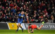 28 December 2019; James Lowe of Leinster in action against Sammy Arnold of Munster during the Guinness PRO14 Round 9 match between Munster and Leinster at Thomond Park in Limerick. Photo by Ramsey Cardy/Sportsfile
