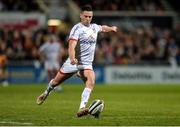 27 December 2019; John Cooney of Ulster about to kick a penalty during the Guinness PRO14 Round 9 match between Ulster and Connacht at Kingspan Stadium in Belfast. Photo by Oliver McVeigh/Sportsfile