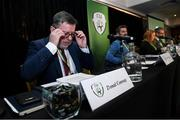 29 December 2019; FAI President Donal Conway during the FAI Annual General Meeting at the Citywest Hotel in Dublin. Photo by Ramsey Cardy/Sportsfile