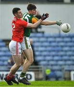 29 December 2019; Seán Quilter of Kerry in action against Maurice Shanley of Cork during the 2020 McGrath Cup Group B match between Kerry and Cork at Austin Stack Park in Tralee, Kerry. Photo by Brendan Moran/Sportsfile