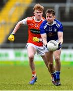 29 December 2019; Stephen Murray of Cavan in action against Conor Turbit of Armagh during the Bank of Ireland Dr McKenna Cup Round 1 match between Cavan and Armagh at Kingspan Breffni in Cavan. Photo by Ben McShane/Sportsfile