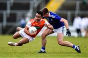 29 December 2019; Jemar Hall of Armagh is tackled by Ryan Connolly of Cavan during the Bank of Ireland Dr McKenna Cup Round 1 match between Cavan and Armagh at Kingspan Breffni in Cavan. Photo by Ben McShane/Sportsfile
