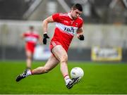 29 December 2019; Ciaran McFaul of Derry in action during the Bank of Ireland Dr McKenna Cup Round 1 match between Monaghan and Derry at Grattan Park in Inniskeen, Monaghan. Photo by Philip Fitzpatrick/Sportsfile