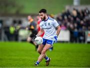 29 December 2019; Phillip Donnelly of Monaghan in action during the Bank of Ireland Dr McKenna Cup Round 1 match between Monaghan and Derry at Grattan Park in Inniskeen, Monaghan. Photo by Philip Fitzpatrick/Sportsfile