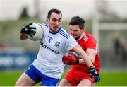 29 December 2019; Padraic Keenan of Monaghan in action against Eoghan Duffy of Derry during the Bank of Ireland Dr McKenna Cup Round 1 match between Monaghan and Derry at Grattan Park in Inniskeen, Monaghan. Photo by Philip Fitzpatrick/Sportsfile