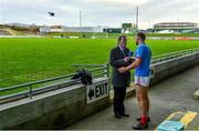29 December 2019; Ciaran Sheehan of Cork is interviewed by Brian Carthy of RTÉ after the 2020 McGrath Cup Group B match between Kerry and Cork at Austin Stack Park in Tralee, Kerry. Photo by Brendan Moran/Sportsfile
