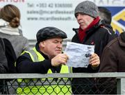 29 December 2019; Monaghan supporter Peter Meegan during the Bank of Ireland Dr McKenna Cup Round 1 match between Monaghan and Derry at Grattan Park in Inniskeen, Monaghan. Photo by Philip Fitzpatrick/Sportsfile
