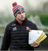 29 December 2019; Derry manager Rory Gallagher during the Bank of Ireland Dr McKenna Cup Round 1 match between Monaghan and Derry at Grattan Park in Inniskeen, Monaghan. Photo by Philip Fitzpatrick/Sportsfile
